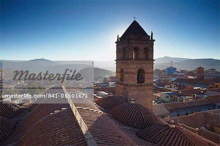 View of Potosi from rooftop of Convento de San Francisco, Potosi, UNESCO World Heritage Site, Bolivia, South America