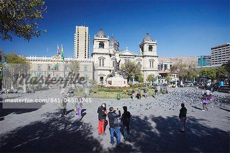 Plaza Pedro Murillo, La Paz, Bolivia, South America