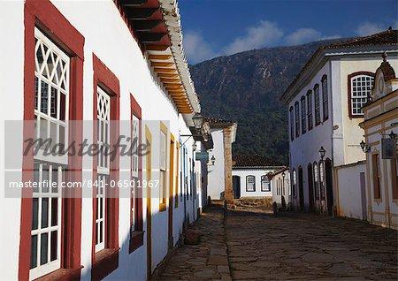 Colonial buildings, Tiradentes, Minas Gerais, Brazil, South America