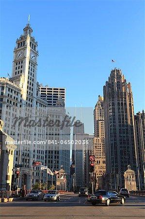 The Wrigley Building and Tribune Tower, North Michigan Avenue, Chicago, Illinois, United States of America, North America