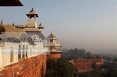 Jehangir's Palace in Agra Fort, UNESCO World Heritage Site, Agra, Uttar Pradesh, India, Asia