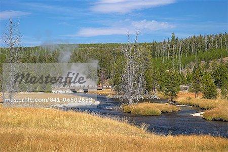 Oblong Geyser, Upper Geyser Basin, Yellowstone National Park, UNESCO World Heritage Site, Wyoming, United States of America, North America