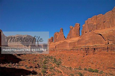 Park Lane, Arches National Park, Moab, Utah, United States of America, North America