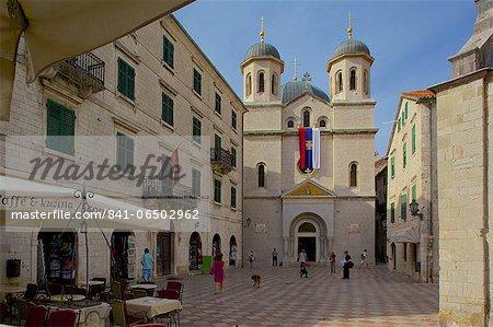 St. Nicholas Church, Luke Square, Old Town, UNESCO World Heritage Site, Kotor, Montenegro, Europe