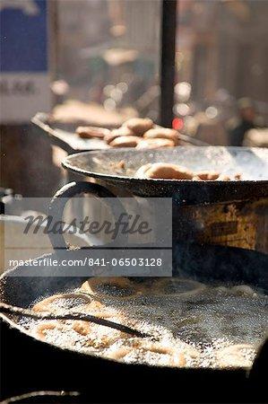 Fried food stall, Bhaktapur, Nepal, Asia