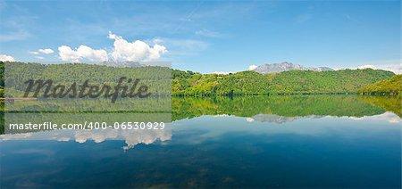 Lake Lago di levico in the Dolomites