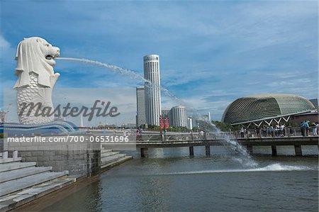 Merlion Park on Marina Bay, Singapore