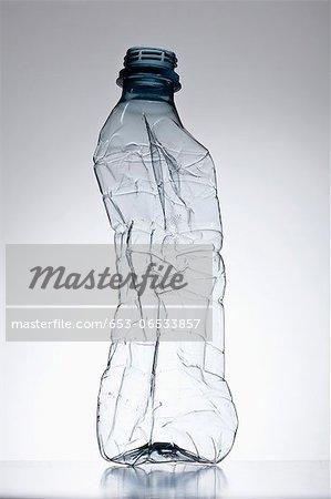 Plastic bottle out of shape