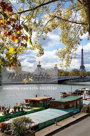 Seine, Pont Alexandre III, Eiffel Tower, Paris