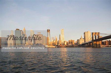 Bridge and city skyline