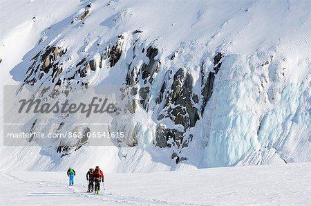 Europe, France, French Alps, Haute Savoie, Chamonix, Col du Passon off piste ski touring area MR