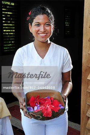 Woman working at the Aqua Wellness Resort, Nicaragua, Central America