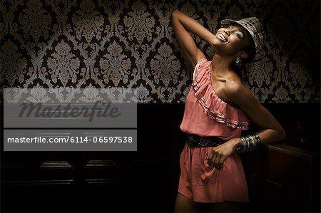 Young woman in nightclub