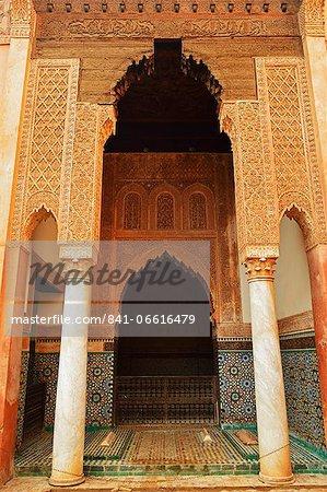 Saadian Tombs, Medina, Marrakesh, Morocco, North Africa, Africa