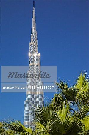 The Burj Khalifa, World's tallest building, Dubai, United Arab Emirates, Middle East