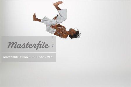Man Practicing Capoeira