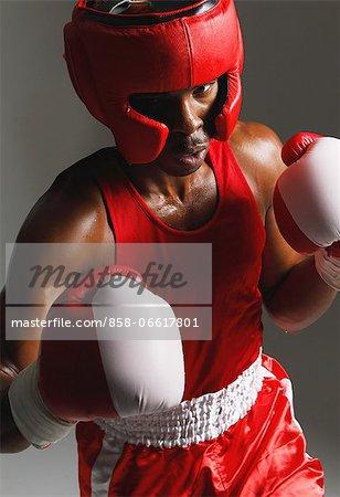 Man Practicing Boxing