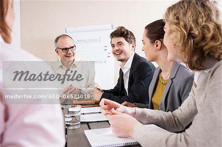Business People Meeting in Boardroom