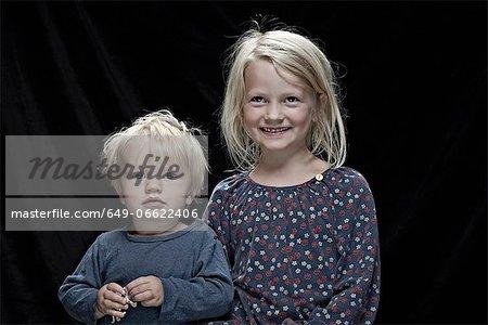 Children posing together indoors
