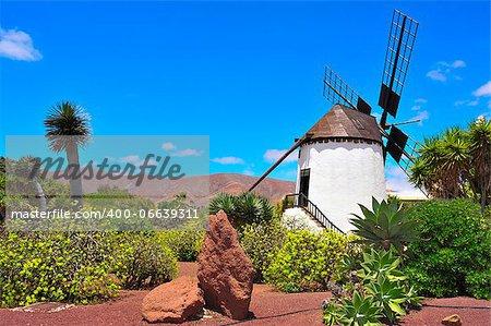 old windmill in Antigua, Fuerteventura, Canary Islands, Spain