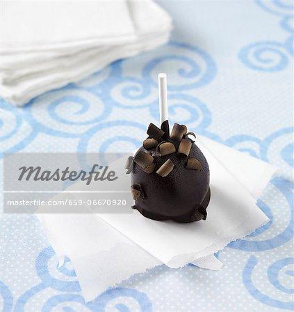 A Double Chocolate Cake Pop