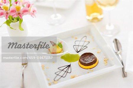 Budino zabaione e cioccolato (zabaglione and chocolate pudding)