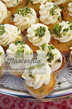 Mini Cream Cheese and Parsley Cupcakes