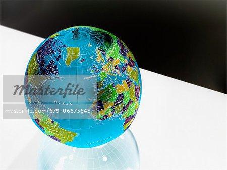 Inflatable globe.