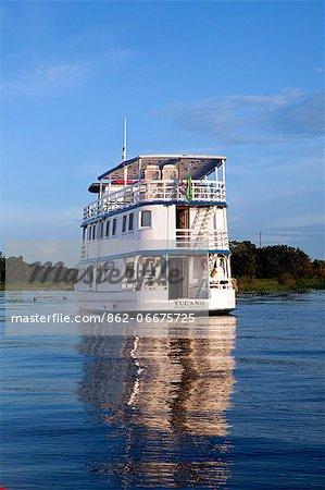 South America, Brazil, Amazonas, the Tucano river boat on the Rio Negro in the Amazon