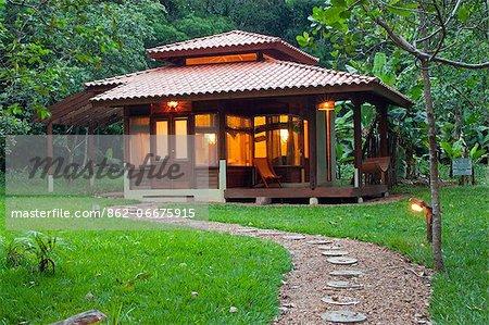 South America, Brazil, Mato Grosso, a private bungalow at Cristalino Jungle Lodge
