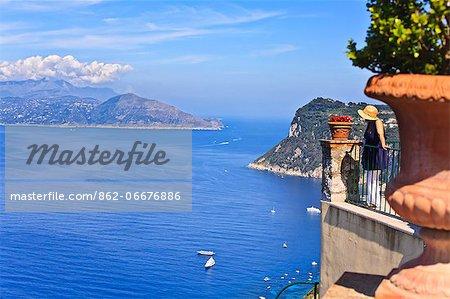 Italy, Campania, Napoli district, Capri. Anacapri. Casear Augustus Hotel.