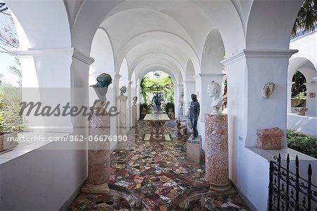 Italy, Campania, Napoli district, Capri. Anacapri, Villa San Michele, Axel Munthe,