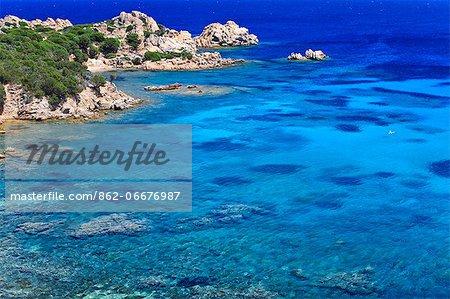 Italy, Sardinia, Olbia Tempio district, Parco Nazionale Arcipelago di la Maddalena. La Maddalena. cala Spalmatore