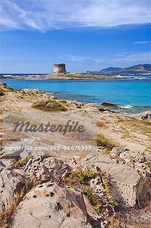 Italy, Sardinia, Sassari district, Stintino, La Pelosa beach.