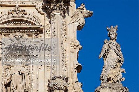 Italy, Apulia, Lecce district, Salentine Peninsula, Salento, Lecce. Santa Croce church