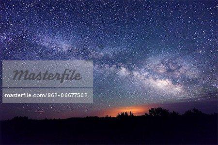 Night Sky, Sunset Crater National Monument, Arizona, USA