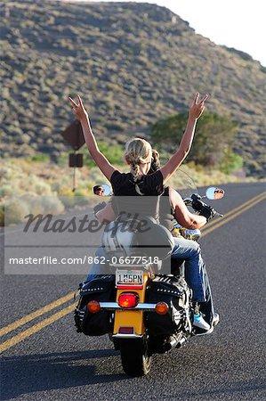Riding Motor bike, Flagstaff, Arizona, USA