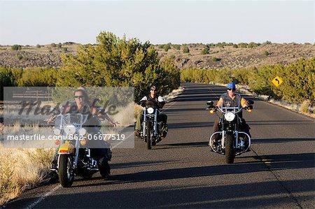 People with Motor bikes near Flagstaff, Arizona, USA