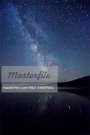 Night Sky at Diamond Lake, Chemult, Oregon, USA