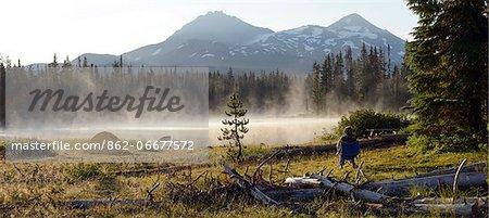 Scott Lake, Three Sisters, Cascade Mountains, Central Oregon, Lane County, Oregon, USA