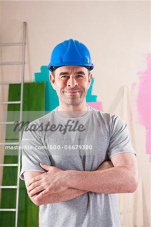 Portrait of Mature Man Renovating Home
