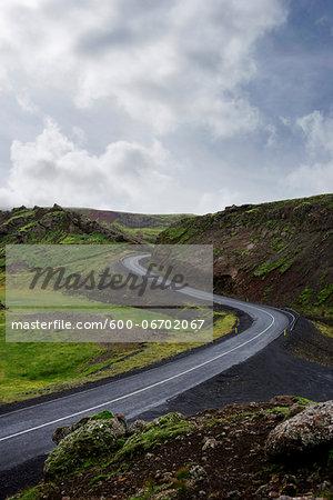 Winding Road in beautiful landscape