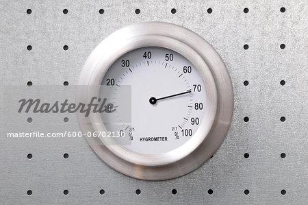 Close-up of Hygrometer Dial
