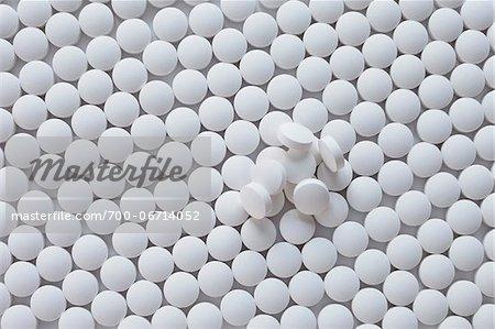 still life of white pills