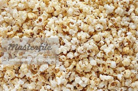 Popped popcorn background