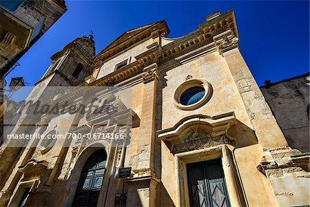 Italy, Sicily, Ragusa Ibla, S. Maria dell'Itria Baroque Church (18th century) facade and bell tower