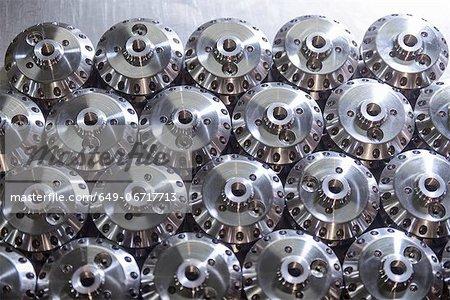 Steel parts in factory
