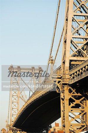 Williamsburg Bridge and blue sky