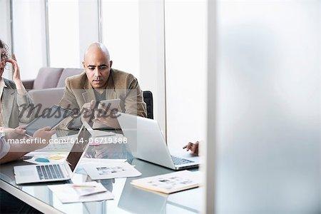 Business people working in meeting