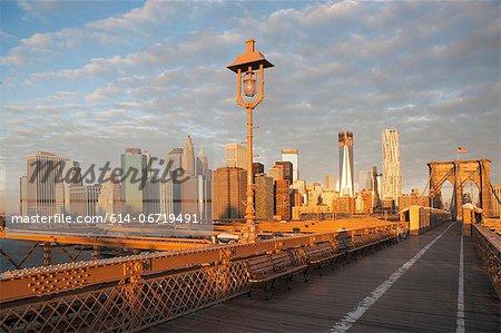 Brooklyn Bridge and city skyline